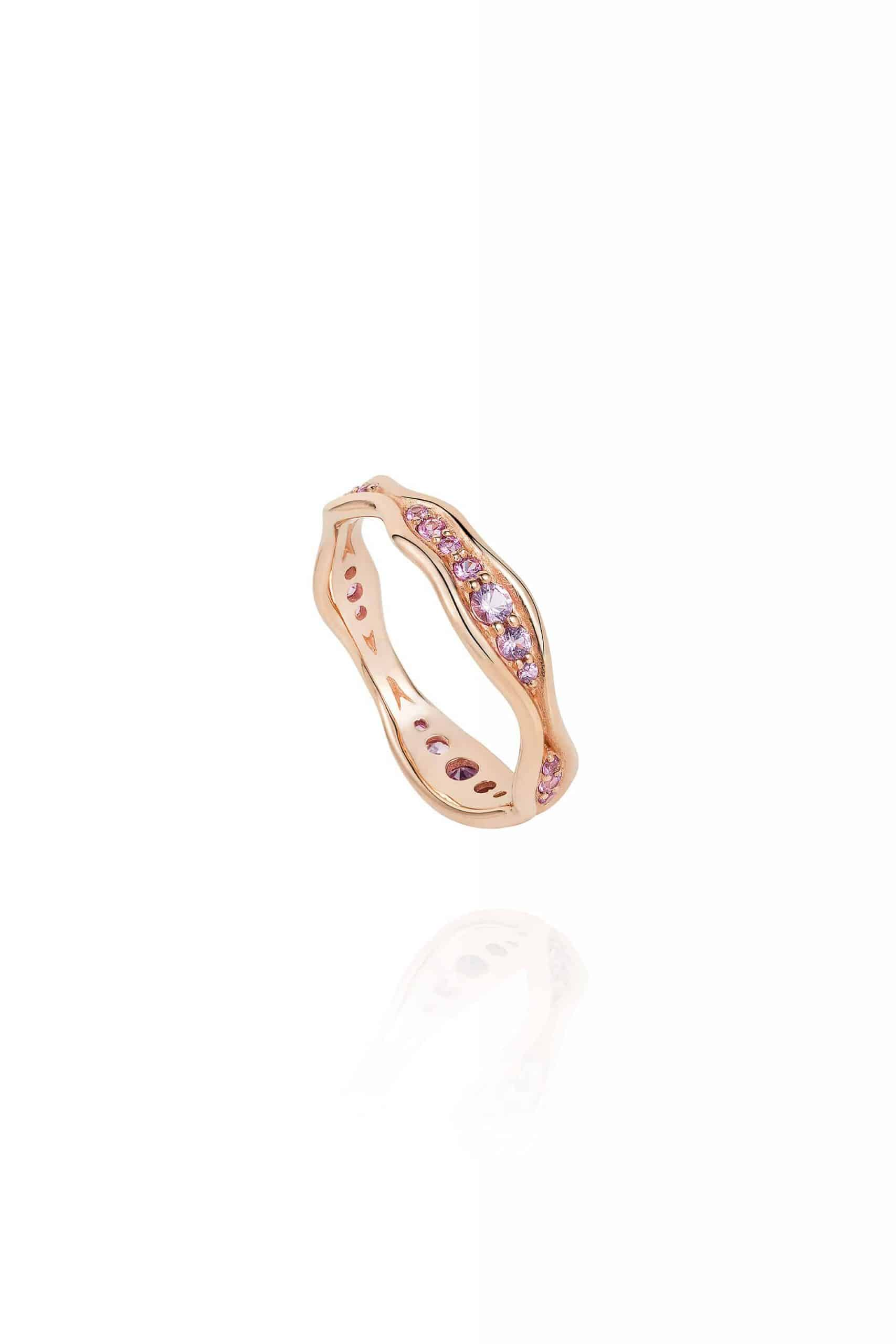 Fluid Pink Sapphires Band