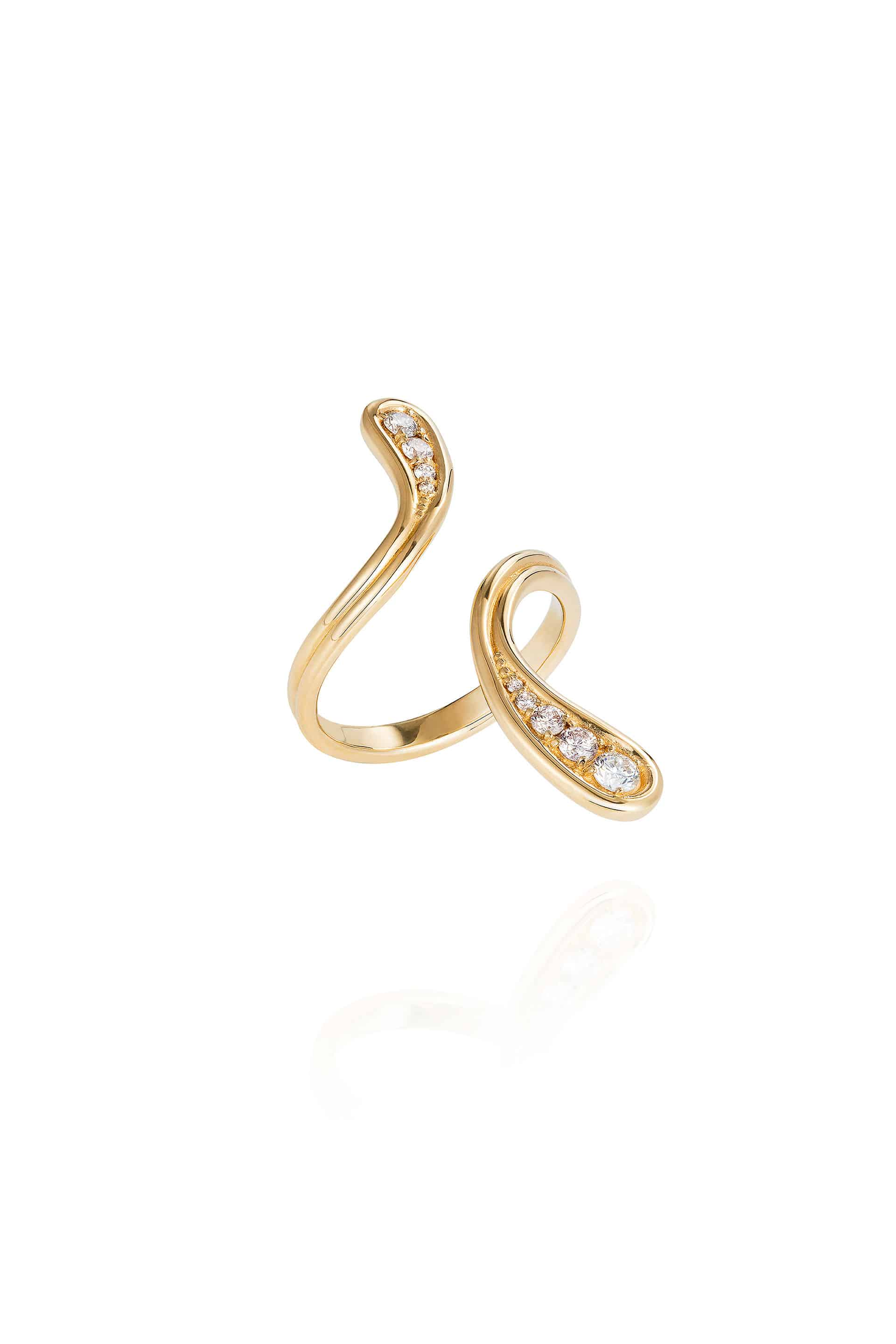 Fluid Diamonds Long Ring