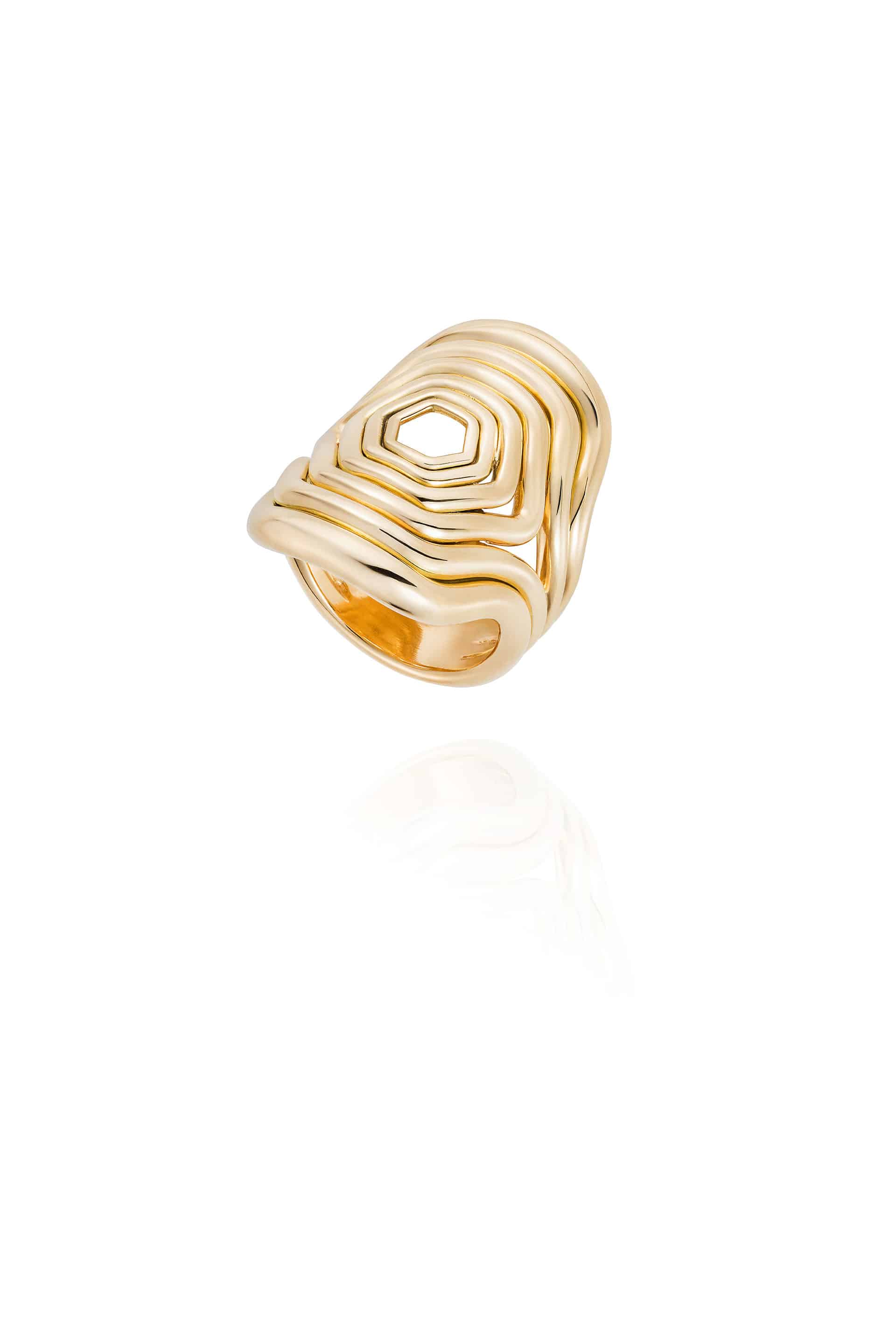 Cushioned Lines Ring