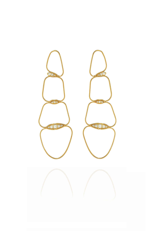 Fluid Diamonds Chain Earrings