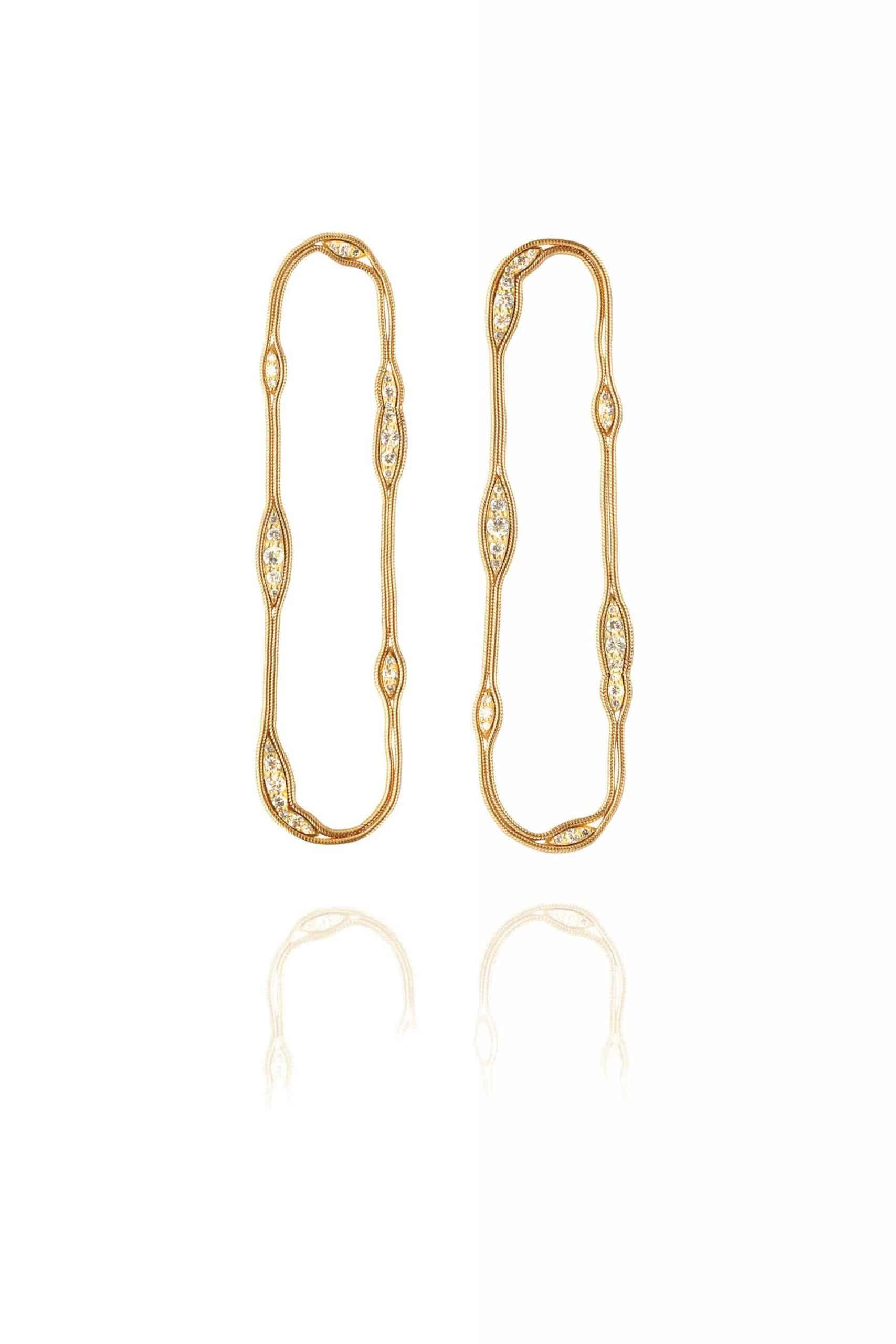 Fluid Diamonds Cycle Earrings