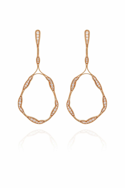 Fluid Diamonds Trapeze Earrings