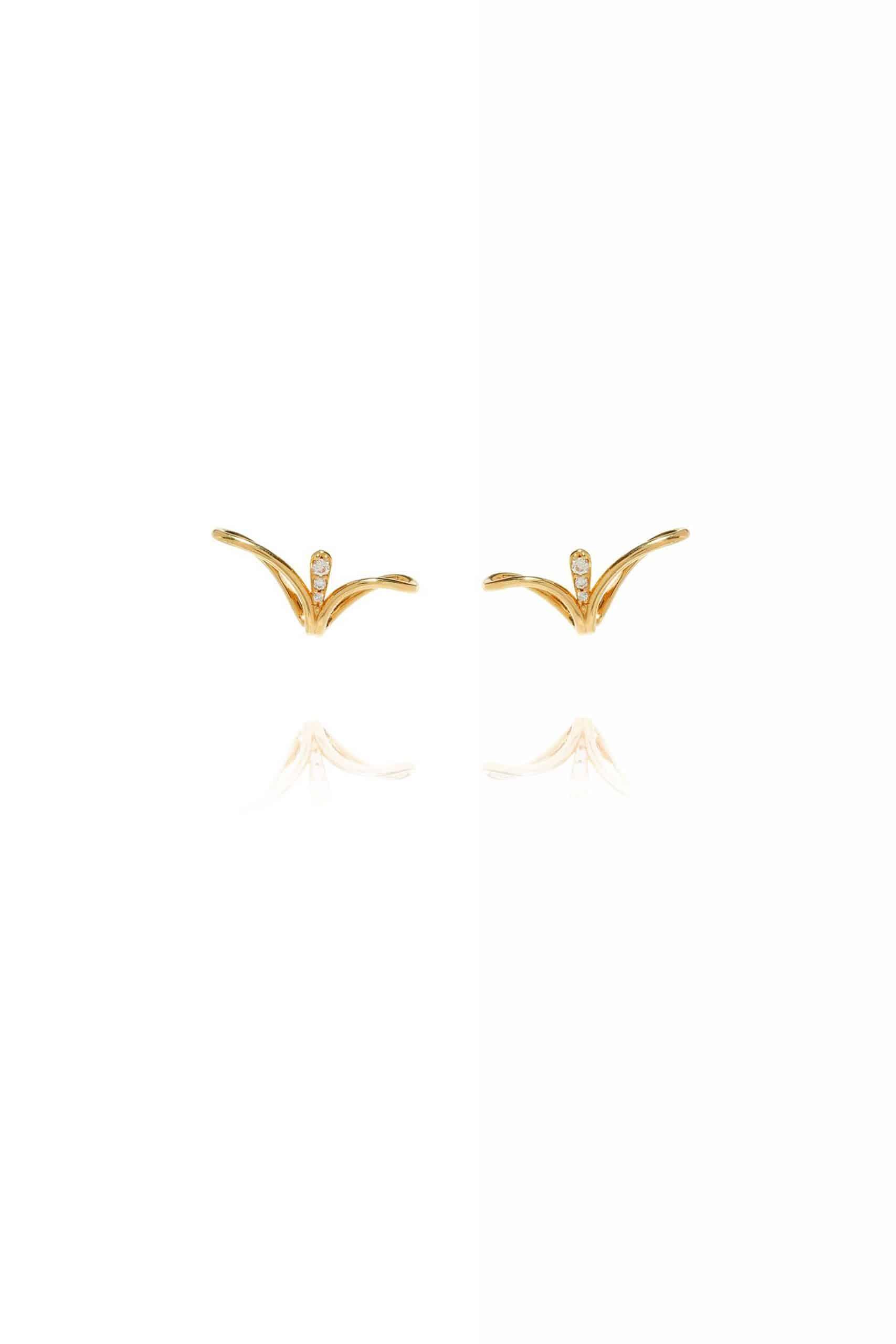 Fluid Diamonds Lobe Earrings
