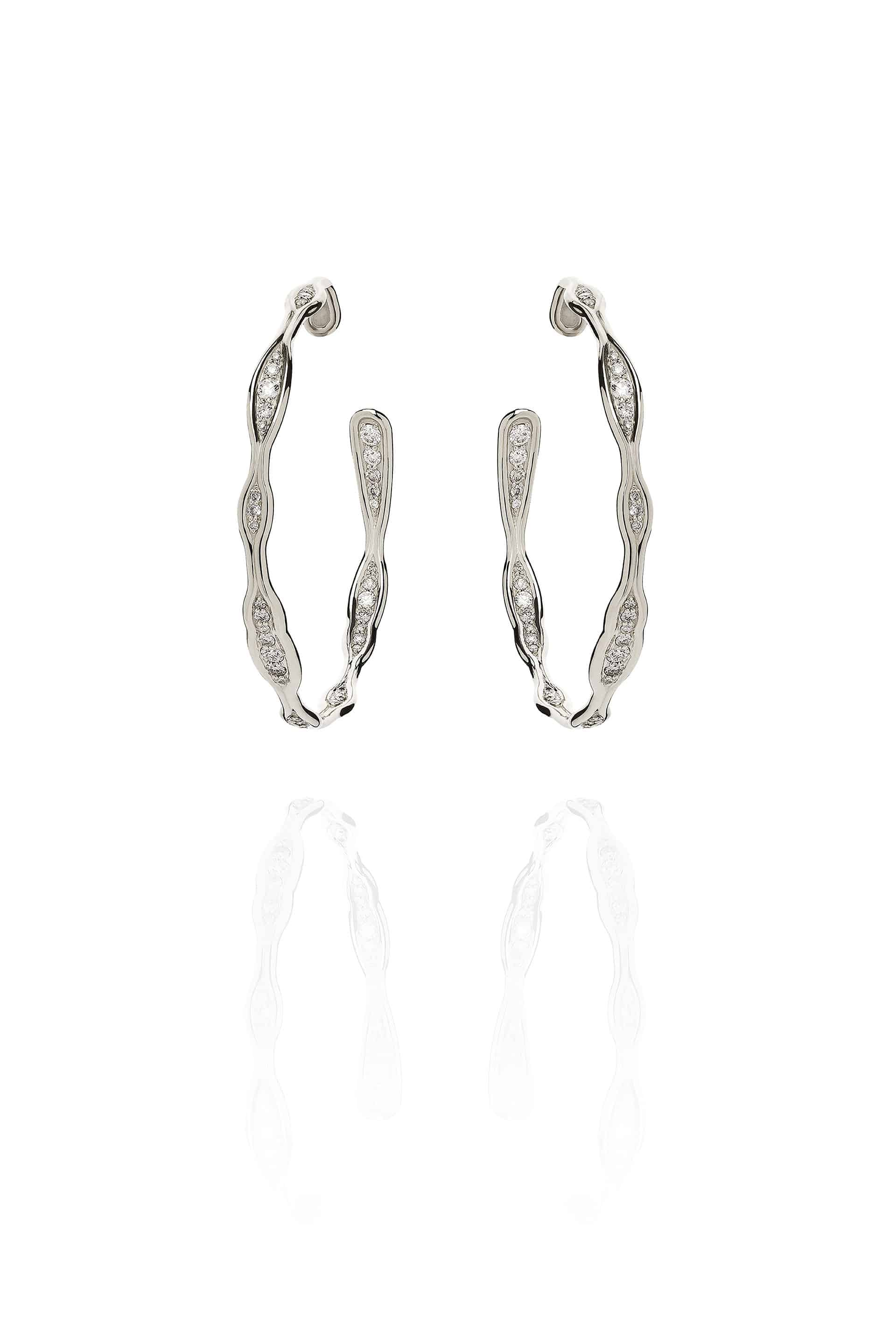 Fluid Diamonds Hoops