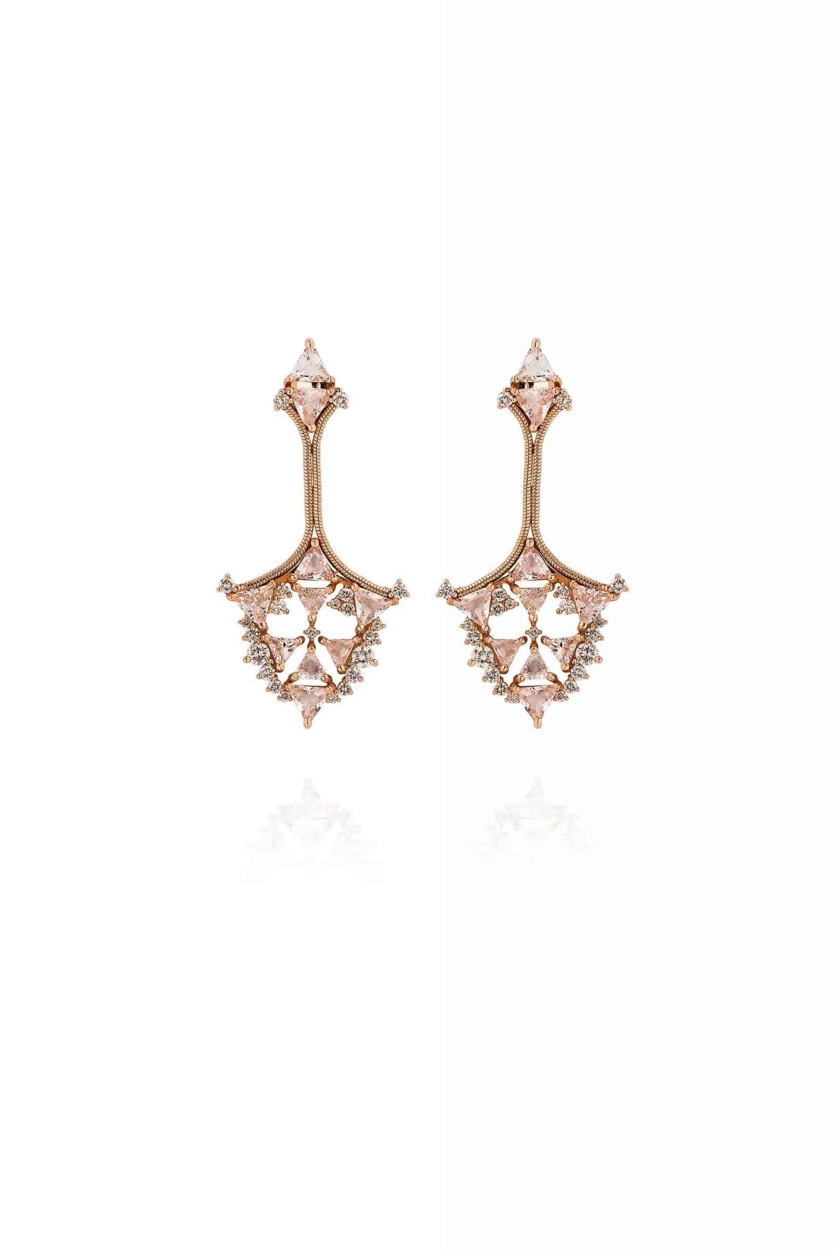 Fusion Triangular Earrings