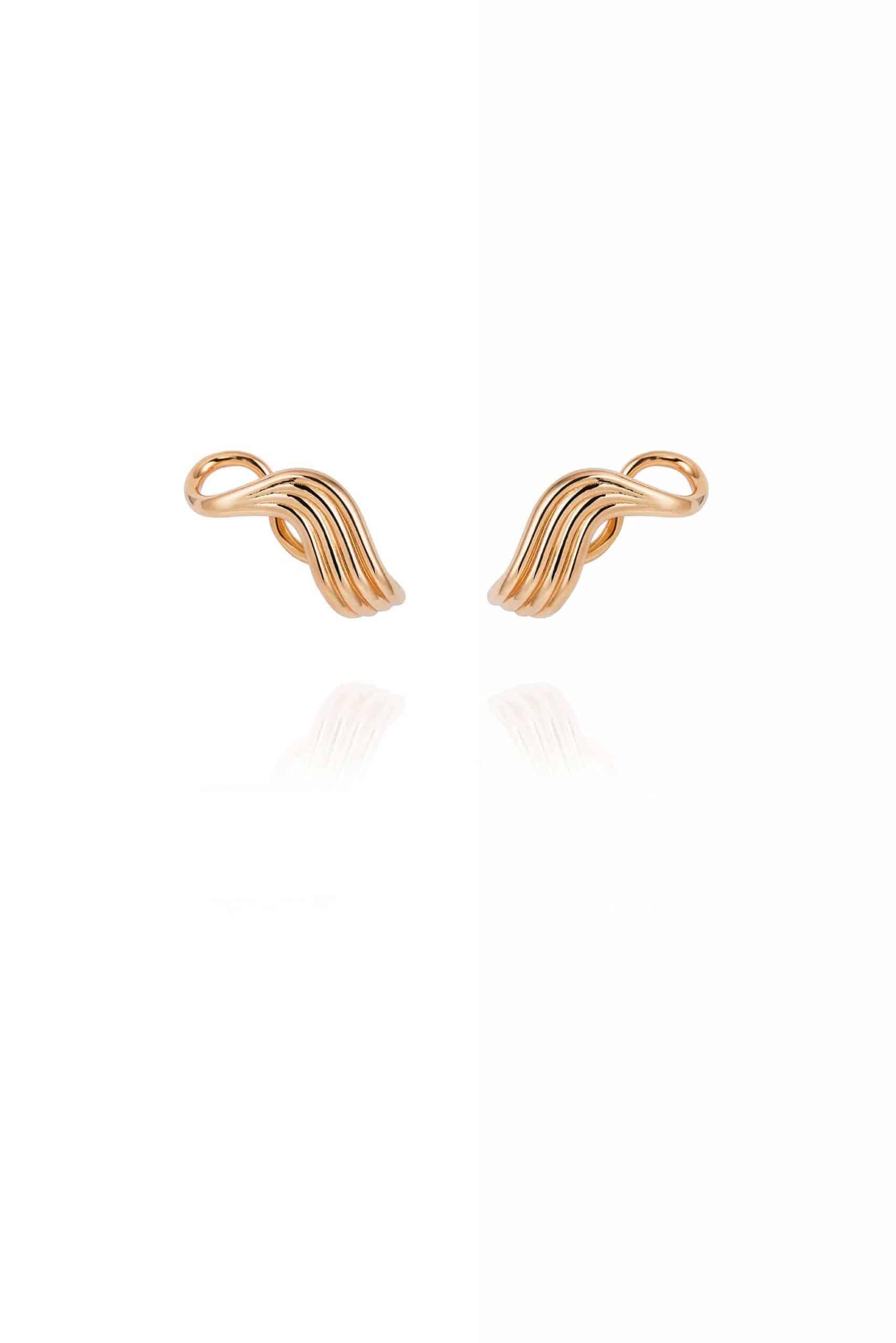 Stream Lines Lobe Earrings