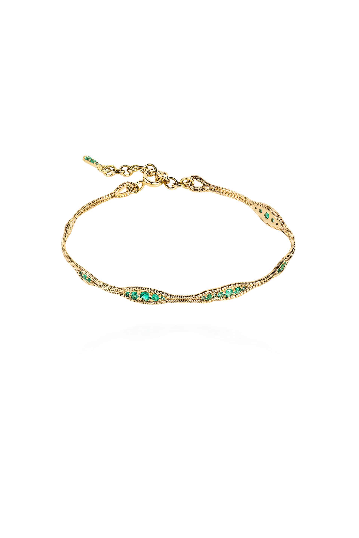 Fluid Emeralds Bracelet