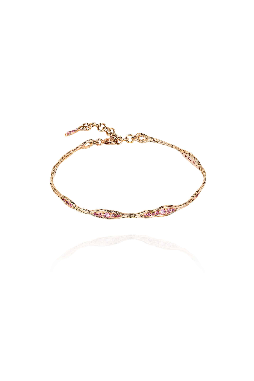 Fluid Pink Sapphires Bracelet