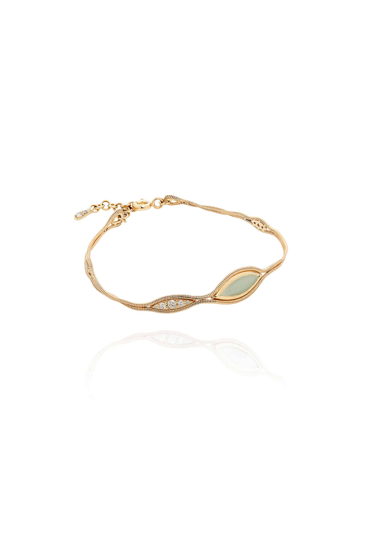 Fluid Diamonds and Stone Bracelet