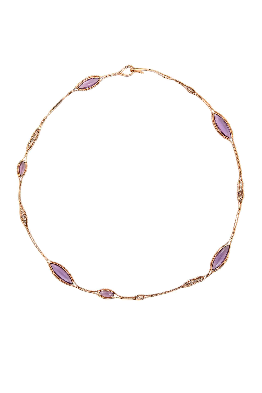 Fluid Diamonds and Stones Necklace